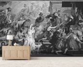 The Apotheosis of Henri IV and the Proclamation of the Regency of Marie de Medici, 1622-25 (oil on canvas) (b/w photo) wall mural living room preview