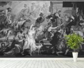 The Apotheosis of Henri IV and the Proclamation of the Regency of Marie de Medici, 1622-25 (oil on canvas) (b/w photo) wall mural in-room view