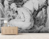Susanna and the Elders, drawn by Lucas Vorsterman, c.1620 (chalk, pen & ink on paper) wallpaper mural living room preview