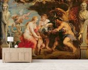 Thetis receiving Achilles armour from Vulcan; mural wallpaper living room preview