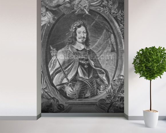 Ferdinand III, Holy Roman Emperor, engraved by Christoffel Jegher, c.1631-33 (engraving) mural wallpaper room setting