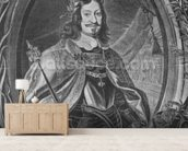 Ferdinand III, Holy Roman Emperor, engraved by Christoffel Jegher, c.1631-33 (engraving) mural wallpaper living room preview