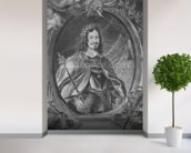 Ferdinand III, Holy Roman Emperor, engraved by Christoffel Jegher, c.1631-33 (engraving) mural wallpaper in-room view