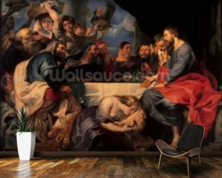 Feast in the house of Simon the Pharisee, c.1620 (oil on canvas) wall mural