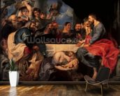 Feast in the house of Simon the Pharisee, c.1620 (oil on canvas) wall mural kitchen preview