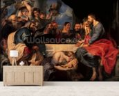 Feast in the house of Simon the Pharisee, c.1620 (oil on canvas) wall mural living room preview