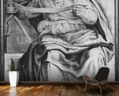 The Prophet Joel, after Michangelo Buonarroti (pierre noire & red chalk on paper) wallpaper mural kitchen preview