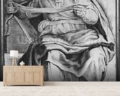 The Prophet Joel, after Michangelo Buonarroti (pierre noire & red chalk on paper) wallpaper mural living room preview