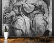 The Prophet Ezekiel, after Michangelo Buonarroti (pierre noire & red chalk on paper) mural wallpaper kitchen preview