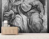 The Prophet Ezekiel, after Michangelo Buonarroti (pierre noire & red chalk on paper) mural wallpaper living room preview