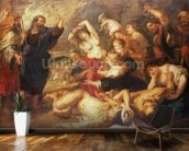 The Brazen Serpent, c.1635-40 (oil on canvas) wallpaper mural kitchen preview
