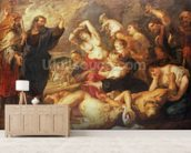 The Brazen Serpent, c.1635-40 (oil on canvas) wallpaper mural living room preview