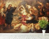 The Brazen Serpent, c.1635-40 (oil on canvas) wallpaper mural in-room view