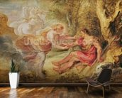 Aurora Abducting Cephalus, 1636 (oil on oak) mural wallpaper kitchen preview
