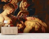 Samson and Delilah, c.1609 (oil on panel) (detail of 15815) wall mural living room preview