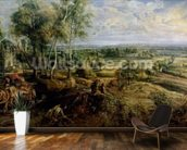 An Autumn Landscape with a view of Het Steen in the Early Morning, c.1636 (oil on panel) mural wallpaper kitchen preview