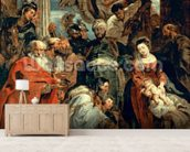 Adoration of the Magi, 1624 (oil on panel) wallpaper mural living room preview