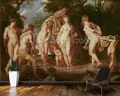 Judgement of Paris, c.1605 (oil on canvas) wall mural kitchen preview