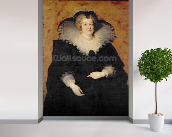 Marie de Medici, 1622 (oil on canvas) wallpaper mural room setting