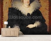 Marie de Medici, 1622 (oil on canvas) wallpaper mural living room preview