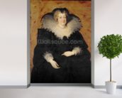Marie de Medici, 1622 (oil on canvas) wallpaper mural in-room view