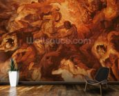 Detail of the Small Last Judgement, c.1620 (oil on panel) (see 206400) wall mural kitchen preview