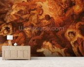 Detail of the Small Last Judgement, c.1620 (oil on panel) (see 206400) wall mural living room preview