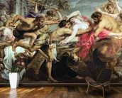 Lapiths and Centaurs (oil on canvas) mural wallpaper kitchen preview