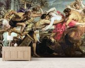 Lapiths and Centaurs (oil on canvas) mural wallpaper living room preview