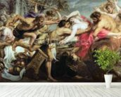 Lapiths and Centaurs (oil on canvas) mural wallpaper in-room view