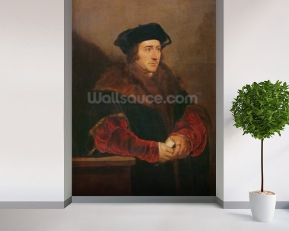 Portrait of Sir Thomas More (oil on canvas) wall mural room setting