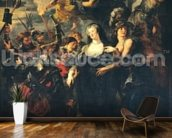 The Medici Cycle: Marie de Medici (1573-1642) Escaping from Blois, 21st-22nd February 1619, 1621-25 (oil on canvas) wallpaper mural kitchen preview