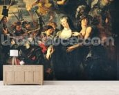 The Medici Cycle: Marie de Medici (1573-1642) Escaping from Blois, 21st-22nd February 1619, 1621-25 (oil on canvas) wallpaper mural living room preview