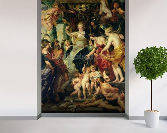 The Felicity of the Regency, 1621-25 (oil on canvas) wall mural room setting