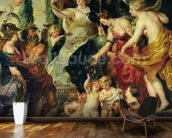 The Felicity of the Regency, 1621-25 (oil on canvas) wall mural kitchen preview