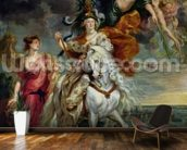 The Medici Cycle: The Triumph of Juliers, 1st September 1610, 1622-25 (oil on canvas) mural wallpaper kitchen preview