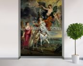 The Medici Cycle: The Triumph of Juliers, 1st September 1610, 1622-25 (oil on canvas) mural wallpaper in-room view