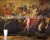 The Medici Cycle: Council of the Gods for the Spanish Marriage, 1621-25 (oil on canvas) wall mural kitchen preview