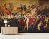 The Medici Cycle: Council of the Gods for the Spanish Marriage, 1621-25 (oil on canvas) wall mural living room preview
