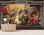 The Apotheosis of Henri IV and the Proclamation of the Regency of Marie de Medici, 1622-25 (oil on canvas) wallpaper mural living room preview