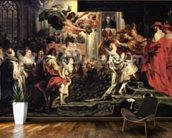 The Coronation of Marie de Medici (1573-1642) at St. Denis, 13th May 1610, 1621-25 (oil on canvas) wallpaper mural kitchen preview
