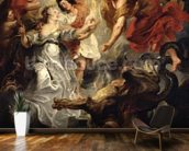 The Reconciliation of Marie de Medici and her son, 15th December 1621, 1621-25 (oil on canvas) mural wallpaper kitchen preview