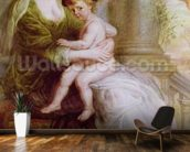 Helene Fourment (1614-73) and her son Frans (oil on panel) wall mural kitchen preview