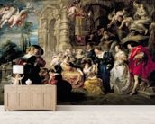 The Garden of Love, c.1630-32 (oil on canvas) mural wallpaper living room preview