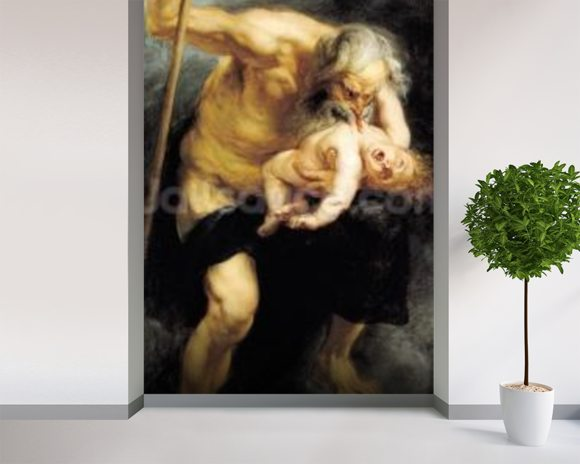 Saturn Devouring his Son, 1636 (oil on canvas) wall mural room setting
