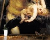Saturn Devouring his Son, 1636 (oil on canvas) wall mural kitchen preview
