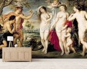 The Judgement of Paris, 1639 (oil on canvas) wallpaper mural living room preview