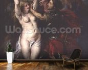 Perseus and Andromeda, 1633 (oil on canvas) mural wallpaper kitchen preview