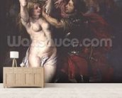 Perseus and Andromeda, 1633 (oil on canvas) mural wallpaper living room preview