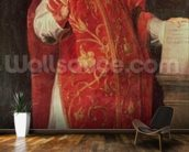 St. Ignatius of Loyola (1491-1556) Founder of the Jesuits (oil on canvas) wallpaper mural kitchen preview